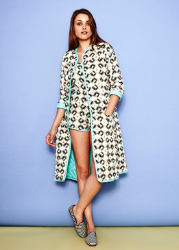 Kerala Quilted robe organic cotton