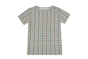 optical print organic cotton