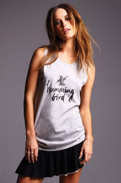 Hummingbird print on Organic Cotton Tank Top