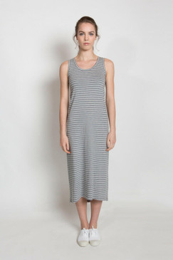 Jessie Maxi Dress Summer - Grey Stripe