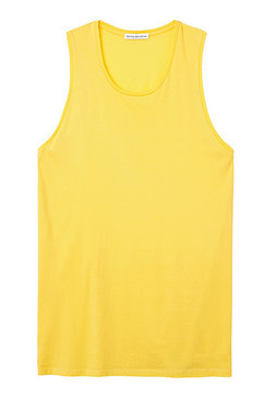 Yellow Muscle Tank Top Organic Cotton