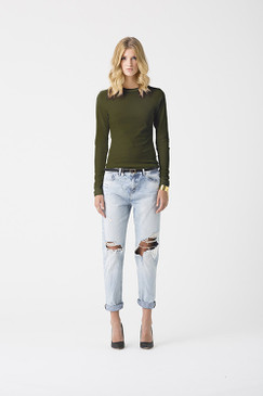 Fitted Angle Top Khaki