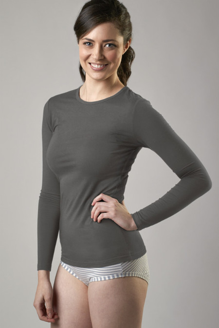 Bamboo Crew Top Grey
