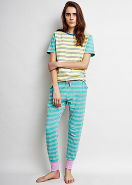 Ocean Stripe PJ Pants with Holiday Tee