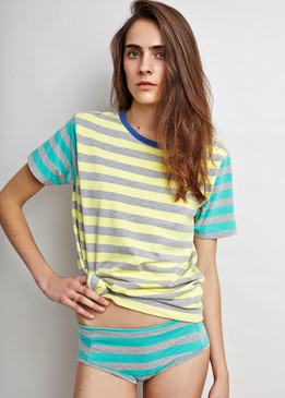 Holiday Tee in Ocean Stripe & BoyCut Underpants