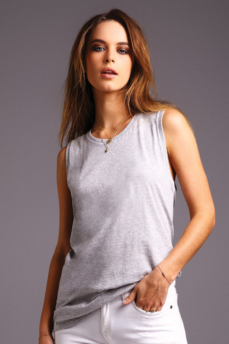 Muscle Top Marle Grey Loose Large Fit