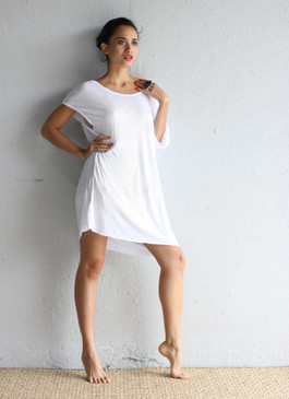 Eco Modal Dress White