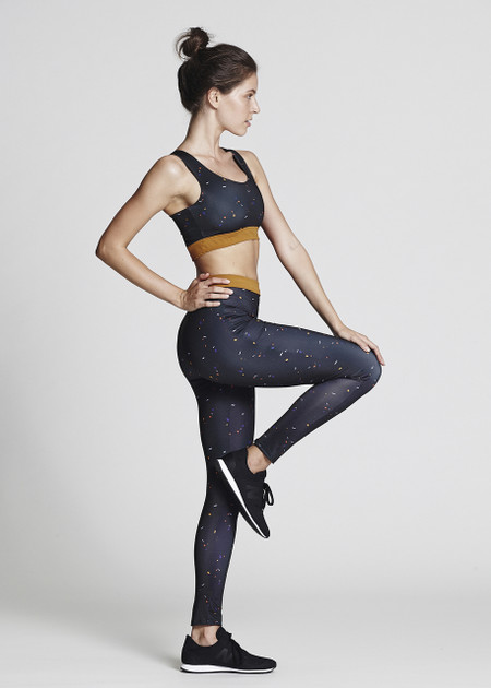 Yoga in Recycled Polyester, Sports Bra and Leggings. Floating!