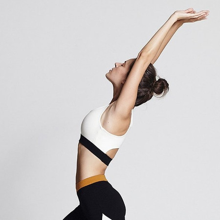 Stretch in comfy Cloud White Sports Bra