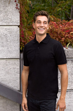 Men's Classic Polo | Organic Cotton & Fairtrade | Black