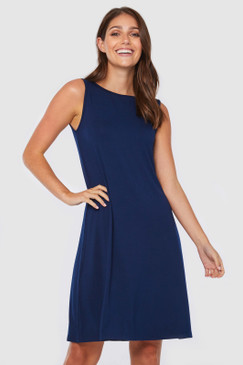 Adele Dress | Navy Blue
