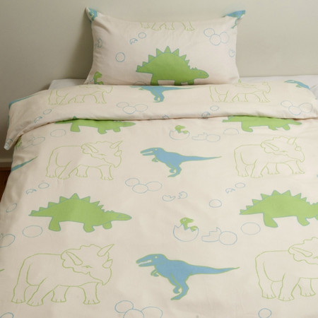 organic cotton satin, Dino Bed