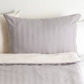 satin grey creme, dark pillow case