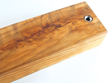 Flamed Japanese Tamamoku Cedar Magnetic Knife Bar