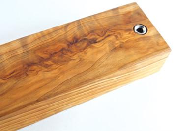 Flamed Japanese Tamamoku Cedar Magnetic Knife Bar