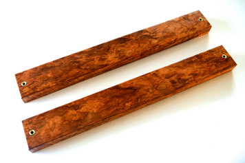 Flamed Japanese Tamamoku Cedar Magnetic Knife Bar 50