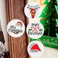 48 Christmas Round Stickers - 30mm Diameter
