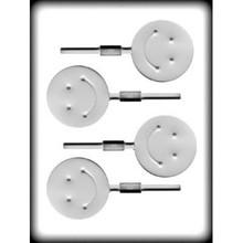 Smiley Face Hard Candy Lollipop Mould