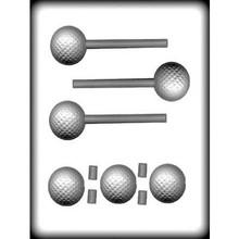 3D Golf Ball Hard Candy Lollipop Mould