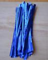 """4"""" (100mm) Blue Metallic Twist Ties"""