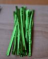 "4"" (100mm) Green Metallic Twist Ties"