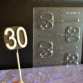 Number 30 Lollipop Chocolate Mould