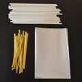 "25 4""x6"" Cello Bags, 25 Paper (150mm) Lollipop Sticks & 25 Twist Ties"