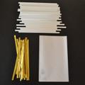 "35 3""x5"" Cello Bags, 35 Paper (115mm) Lollipop Sticks & 35 Twist Ties"