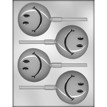 Smiley Face Lollipop Chocolate Mould