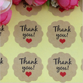 48 'Thank You' Round Stickers - 30mm Diameter