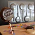 Happy Birthday Lollipop Chocolate Mould