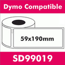 Compatible Dymo SD99019 Large Lever Arch File Folder Label (2 rolls)