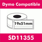 Compatible Dymo SD11355  Removable Return Address Label (2 rolls)