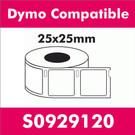 Compatible Dymo S0929120 Multi Purpose Square Label (2 rolls)