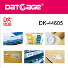 Compatible Brother DK-44605 Yellow Continious Removable Paper Tape (8 rolls)