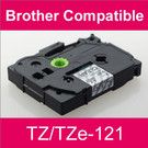 Compatible Brother TZ/TZe-121 Laminated 9mm Black on Clear tape cassette (2 Cassettes)