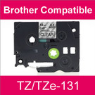 Compatible Brother TZ/TZe-131 Laminated 12mm Black on Clear tape cassette (2 Cassettes)