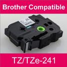 Compatible Brother TZ/TZe-241 Laminated 18mm Black on White tape cassette (8 Cassettes)