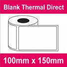 100mm x 150mm Premium Blank Thermal Direct Label (2 rolls)