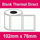 102mm x 76mm Premium Blank Thermal Direct Label (4 rolls)
