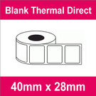 40mm x 28mm Premium Blank Thermal Direct Label (2 rolls)