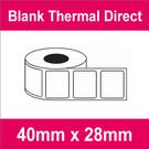 40mm x 28mm Premium Blank Thermal Direct Label (8 rolls)