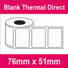 76mm x 51mm Premium Blank Thermal Direct Label (8 rolls)