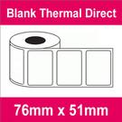 76mm x 51mm Premium Blank Thermal Direct Label (16 rolls)