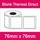 76mm x 76mm Premium Blank Thermal Direct Label (8 rolls)