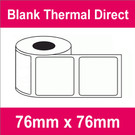 76mm x 76mm Premium Blank Thermal Direct Label (16 rolls)