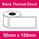 50mm x 150mm Premium Blank Thermal Direct Label (16 rolls)