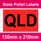 State Packaging and Pallet Labels - QLD (1 roll @ 465 labels/roll)