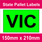 State Packaging and Pallet Labels - VIC (5 rolls @ 465 labels/roll)