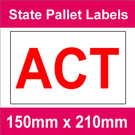State Packaging and Pallet Labels - ACT (1 roll @ 465 labels/roll)